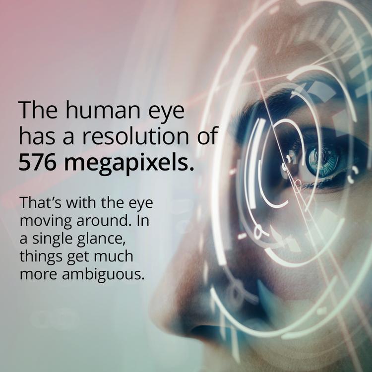 Ditt øye har 576 Megapiksel oppløsning