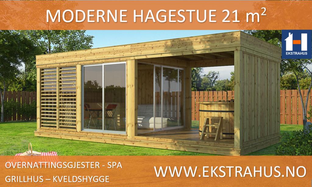 Moderne hagestue på 21 m2