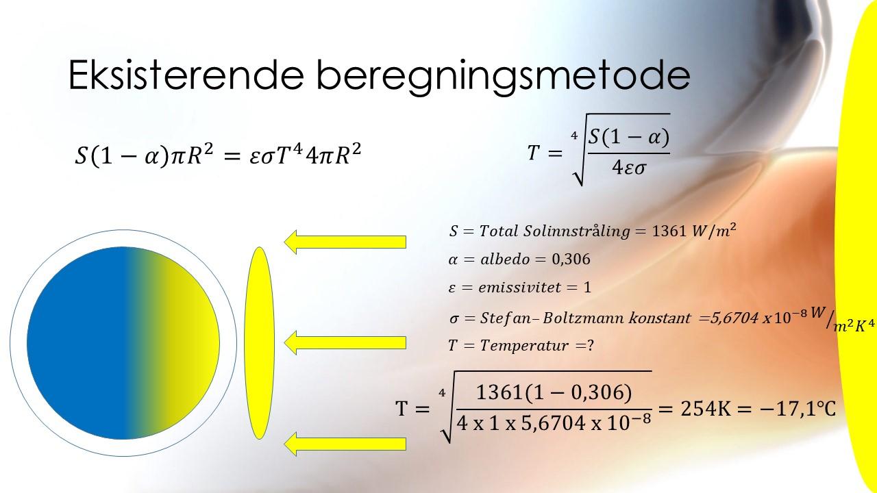 En beregning av jordens energibalanse og falsifisering av drivhuseffekten